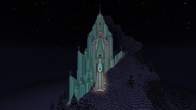 Frozen - Elsa's Ice Castle minecraft building ideas 7
