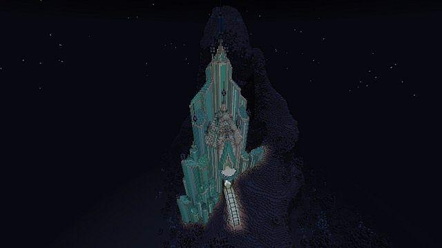 Frozen - Elsa's Ice Castle minecraft building ideas 8