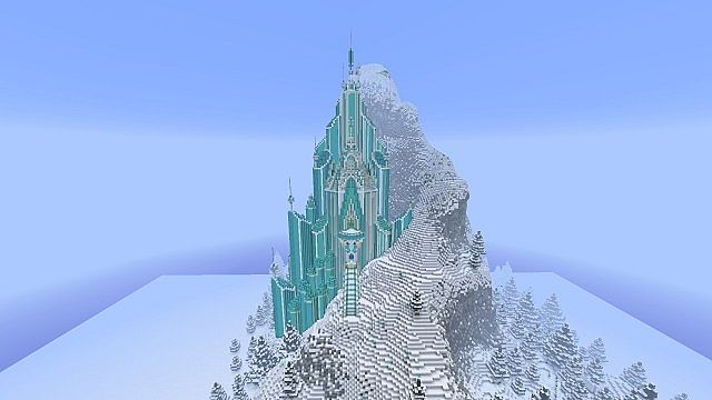 Frozen - Elsa's Ice Castle minecraft building ideas