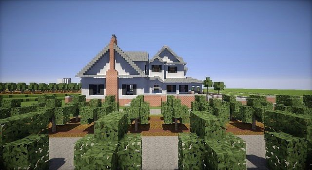 Farm house and red barns minecraft building inc for Farm house construction