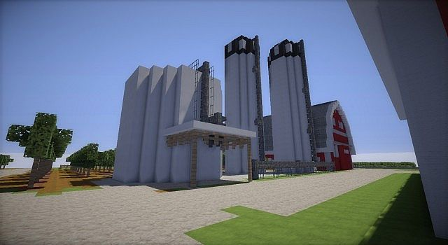 farm house and red barns minecraft building inc