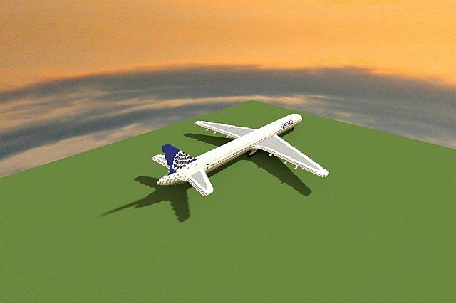 Boeing 777 200 United Airlines minecraft building ideas airport plane 5