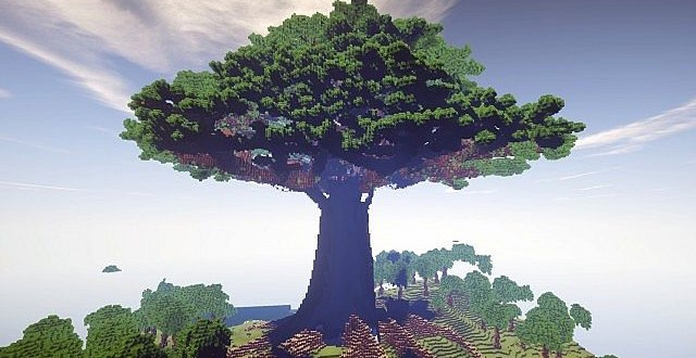 Biggest Minecraft House In The World 2014 mother of trees | largest ever and a town – minecraft building inc