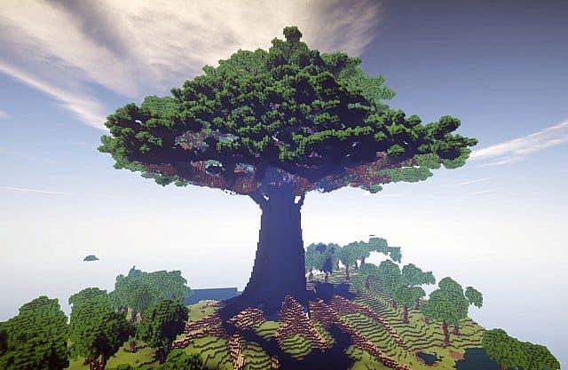Mother of trees terrain minecraft building ideas