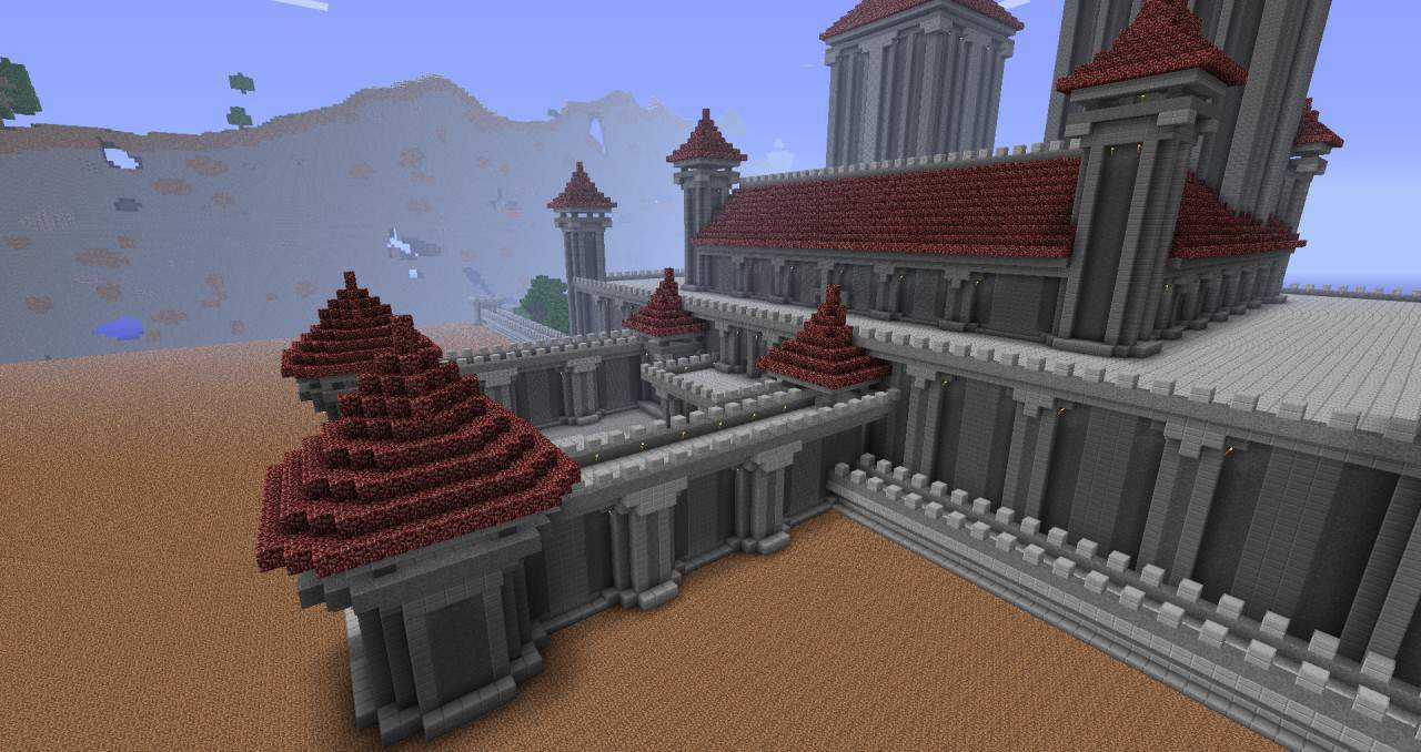 Royal Palace minecraft casdle design build ideas 2
