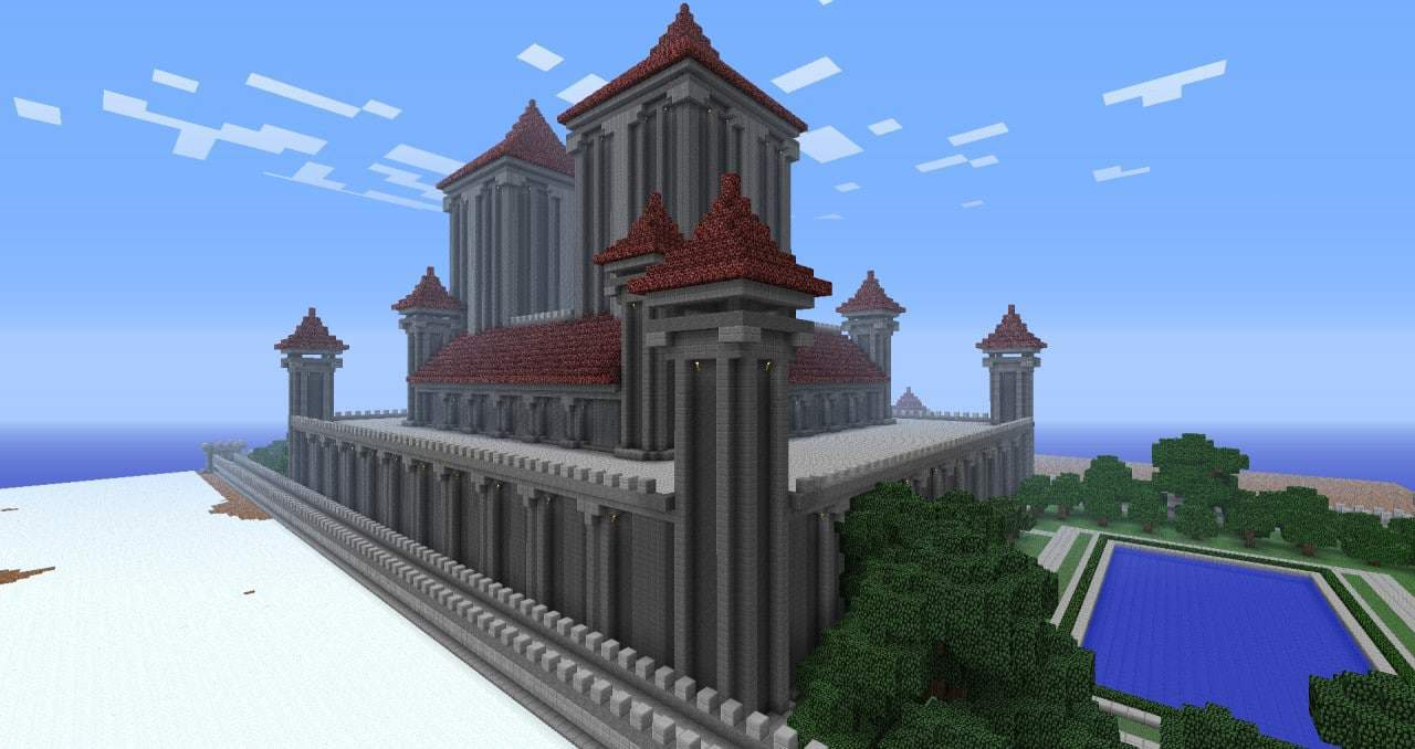 Royal Palace minecraft casdle design build ideas 4
