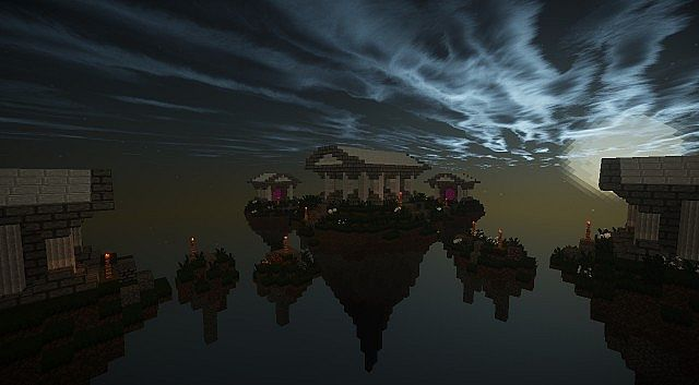 The Gates to Aether Server Hub Spawn minecraft build ideas 6