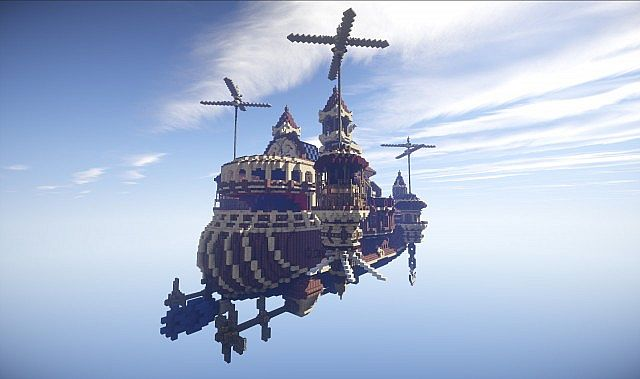 Theater Airship M.S. Prima Vista air ship minecraft build 3