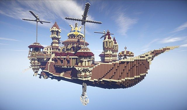 Theater Airship M.S. Prima Vista air ship minecraft build