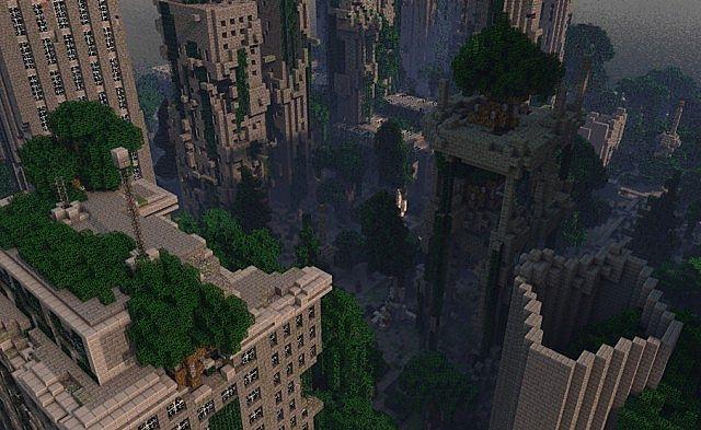 Despair Island minecraft building ideas post apocalypse city ruins 2