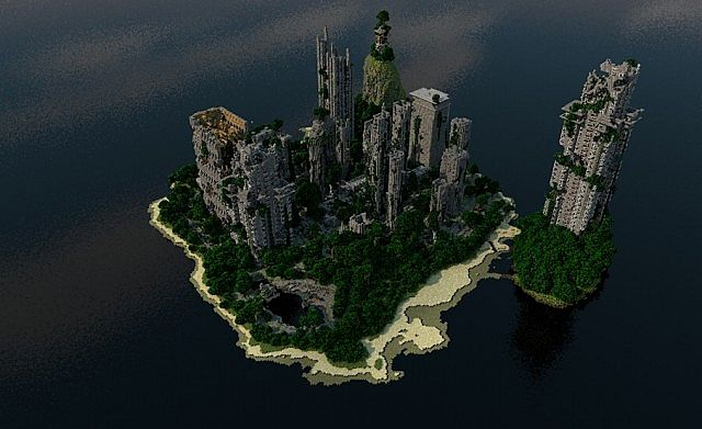 Despair Island minecraft building ideas post apocalypse city ruins