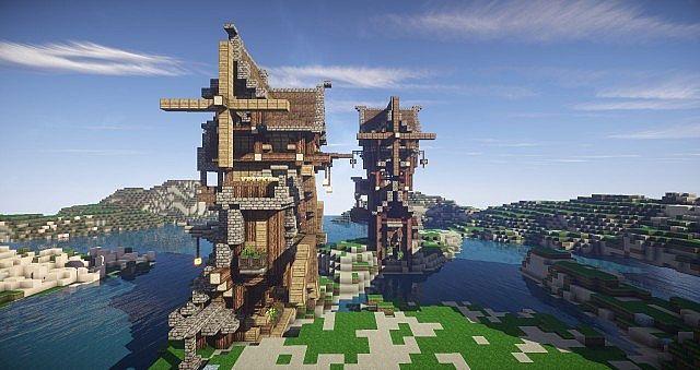 Eulias Steampunk Hideaway minecraft tower build 5