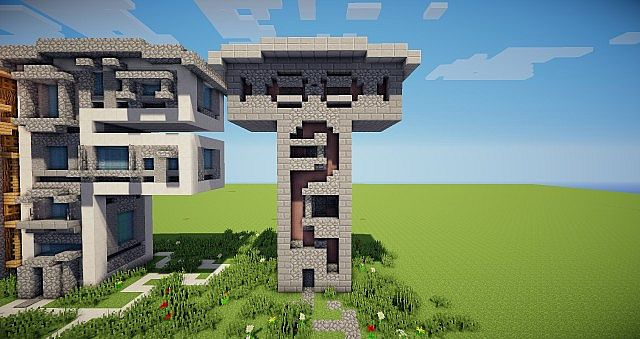 Minecraft frame house idea writing 10
