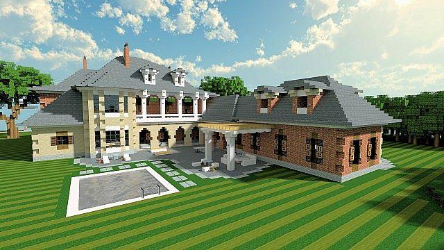 Plantation Mansion Minecraft building history ideas house 2