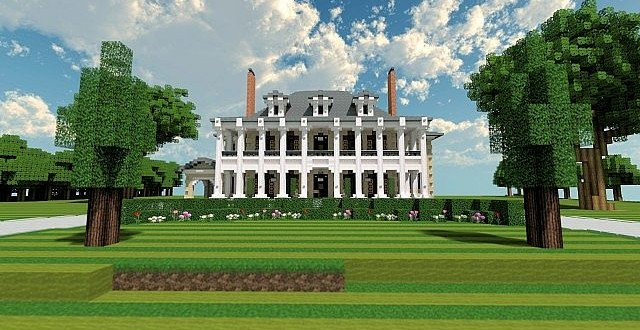 Plantation Mansion Minecraft building history ideas house