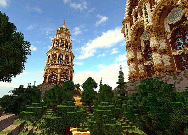 The Palace of Daibahr bouiyait minecraft building ideas tower 10