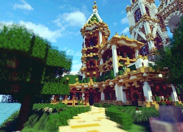 The Palace of Daibahr bouiyait minecraft building ideas tower 13