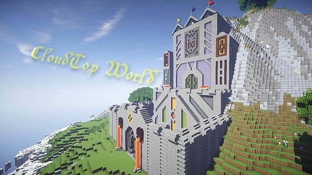 CloudTop The World Above The Clouds minecraft castle ideas
