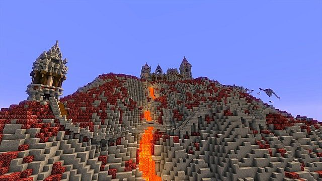 Fargloom Fortress minecraft building ideas moutain midevil lava 10