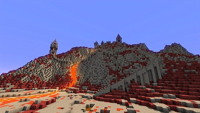Fargloom Fortress minecraft building ideas moutain midevil lava 11
