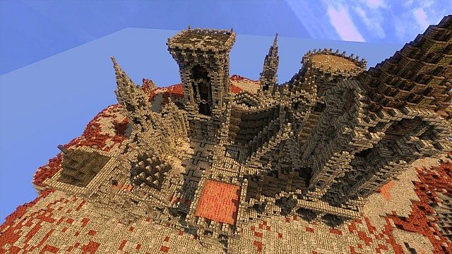 Fargloom Fortress minecraft building ideas moutain midevil lava 123