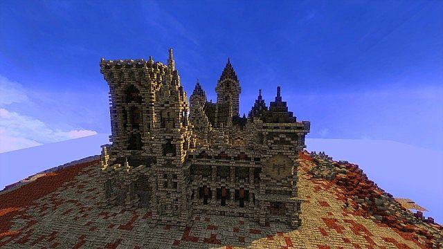 Fargloom Fortress minecraft building ideas moutain midevil lava 13
