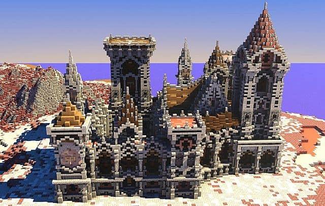 Fargloom Fortress minecraft building ideas moutain midevil lava 2