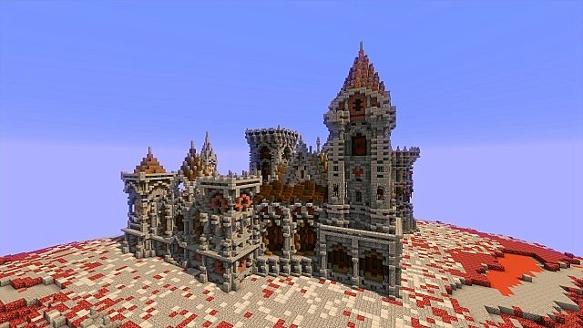 Fargloom Fortress minecraft building ideas moutain midevil lava 3