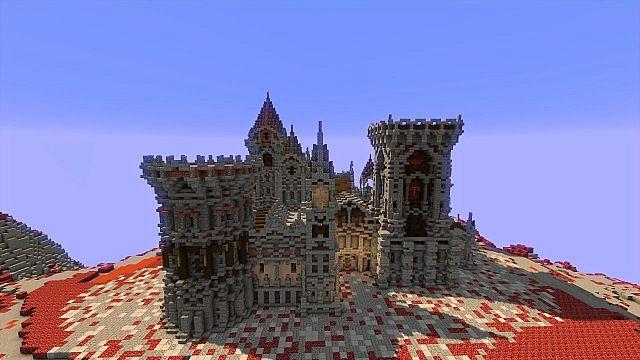 Fargloom Fortress minecraft building ideas moutain midevil lava 4