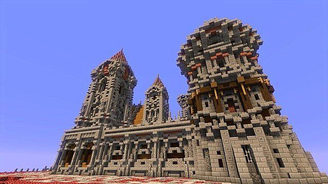Fargloom Fortress minecraft building ideas moutain midevil lava 5