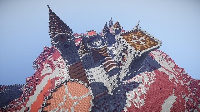 Fargloom Fortress minecraft building ideas moutain midevil lava 7