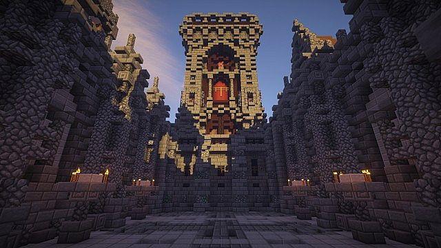 Fargloom Fortress minecraft building ideas moutain midevil lava 8