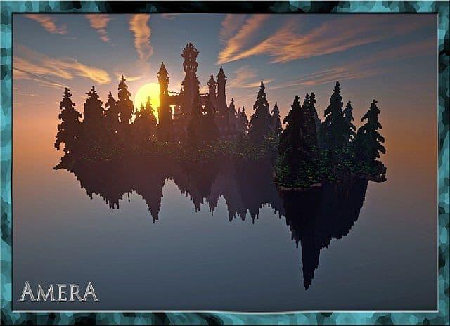 Amera Sky Vill Floating Minecraft castle building ideas 2