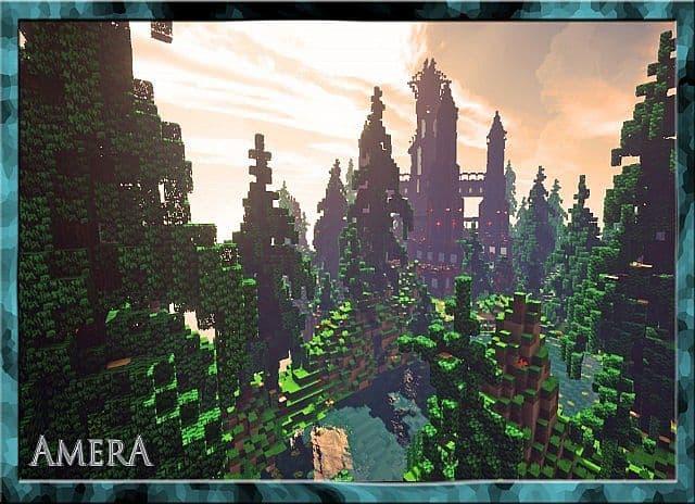 Amera Sky Vill Floating Minecraft castle building ideas 4