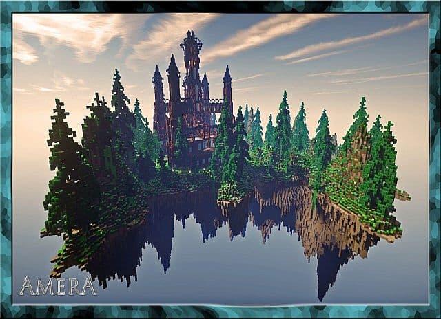Amera Sky Vill Floating Minecraft castle building ideas 5