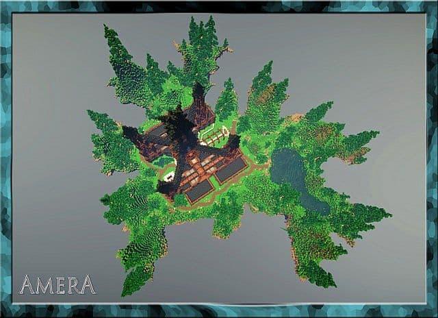 Amera Sky Vill Floating Minecraft castle building ideas 6
