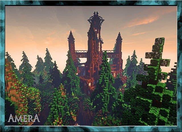 Amera Sky Vill Floating Minecraft castle building ideas 7