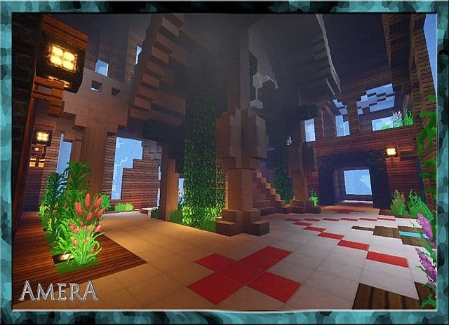 Amera Sky Vill Floating Minecraft castle building ideas 8