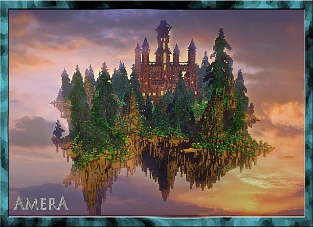 Amera Sky Vill Floating Minecraft castle building ideas