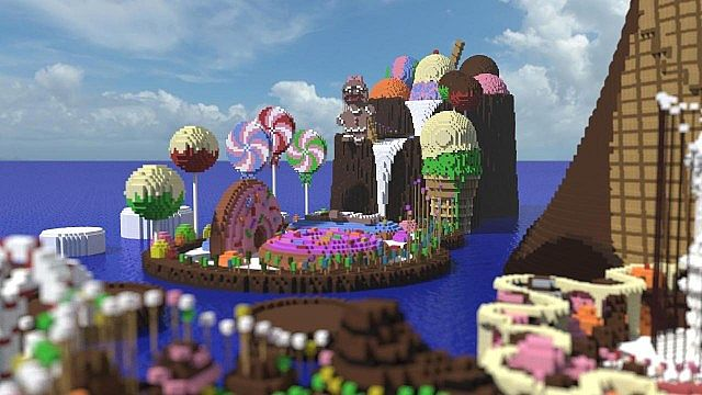 CISHSSOII CandyLand Race Track minecraft building ideas game 4