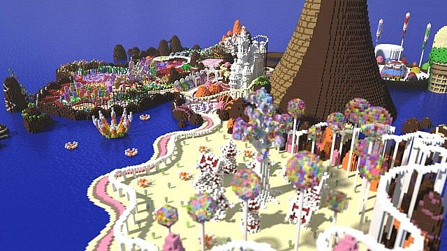 CISHSSOII CandyLand Race Track minecraft building ideas game 6