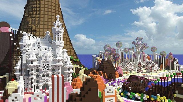 CISHSSOII CandyLand Race Track minecraft building ideas game 7