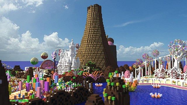 CISHSSOII CandyLand Race Track minecraft building ideas game 8