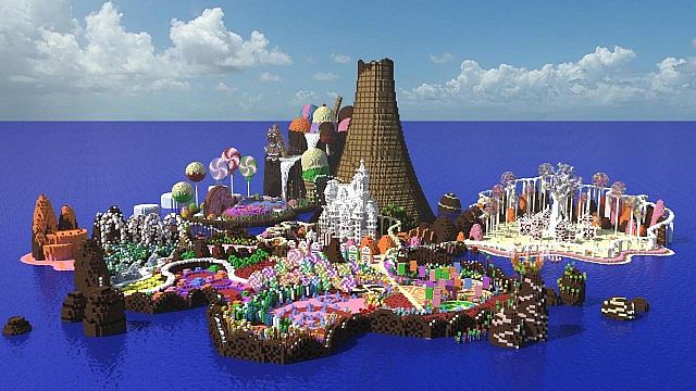 CISHSSOII CandyLand Race Track minecraft building ideas game