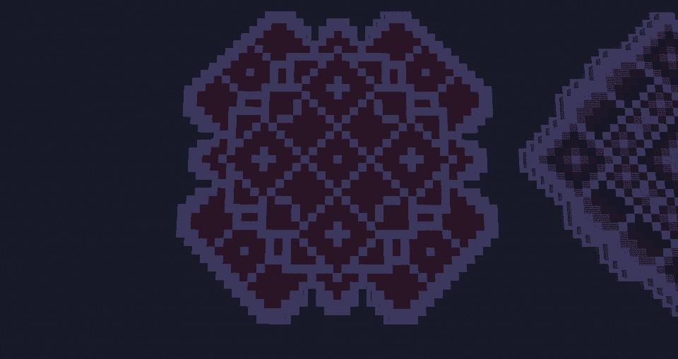 Orange Red Minecraft Floor Pattern Ideas