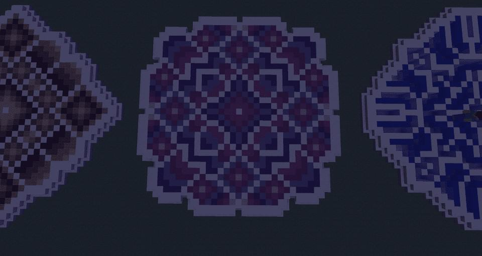 Purple Blue Minecraft Floor Pattern Ideas