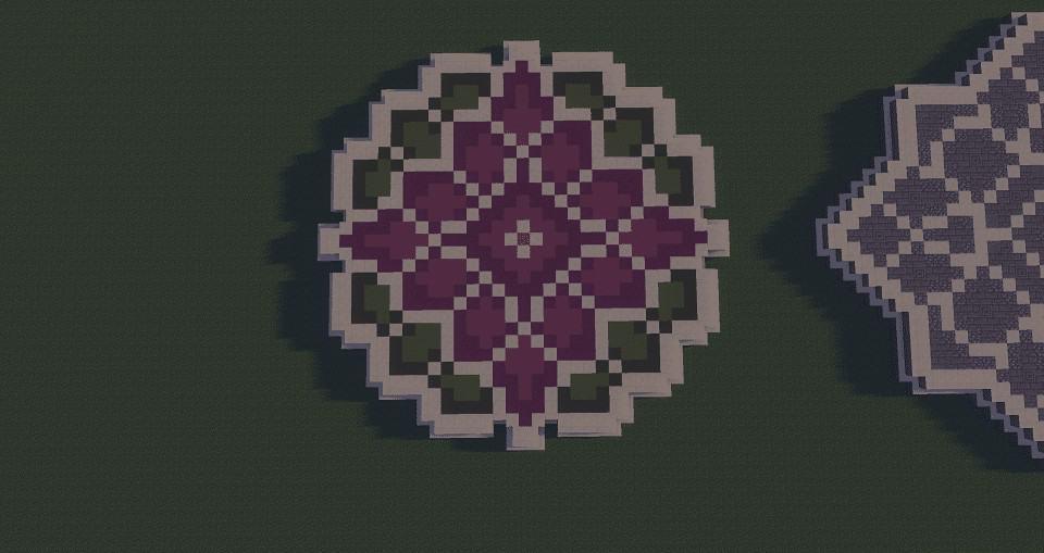 Purple Minecraft Floor Pattern Ideas