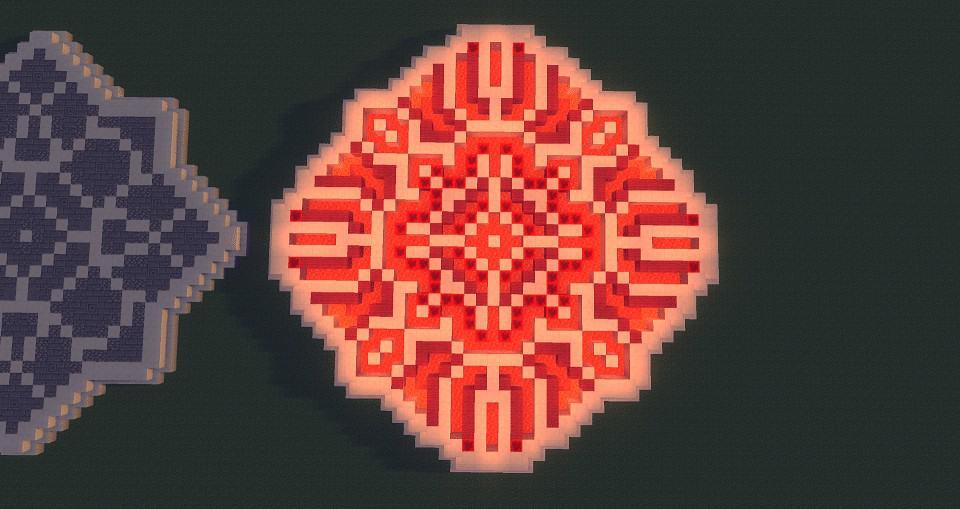 RED Minecraft Floor Pattern Ideas