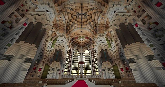 Basilica Notre Dame de Fourviere minecraft building ideas castle mountain 10