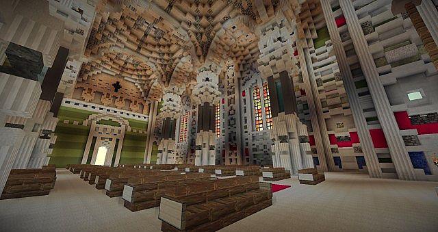 Basilica Notre Dame de Fourviere minecraft building ideas castle mountain 11